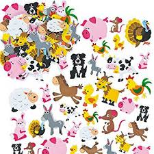 jungle animal foam stickers 12 assorted designs kid s