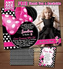 Minnie Mouse Invitation Card Huge Selection Minnie Mouse Birthday Invitation Diy Pink