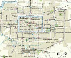 map of xi an xian city map xi039an mappery