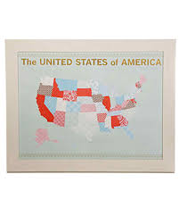 Picture Of A Map Of The United States Of America by U S Map Scrapbook U0026 Video Martha Stewart