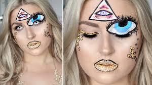 illuminati inspired look halloween makeup tutorial youtube