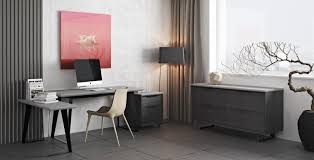Modern Office Desks Urbano Gray Concrete Modern Office Desk Contemporary Office Desk
