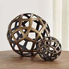Decorative Furniture Geo Decorative Metal Balls Crate And Barrel