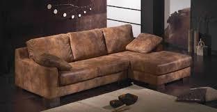 canapé cuir vieilli marron classique canapé design