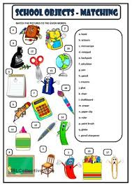 classroom objects esl printable crossword puzzle worksheets for
