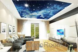 Starry Night Ceiling by 3d Starry Night Galexy Ceiling Wall Mural Wall Paper Decal Wall