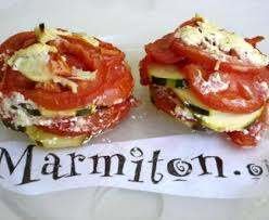 courgette boursin cuisine millefeuille facile aux courgettes tomates et boursin recette de
