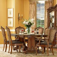old world dining room a r t furniture inc old world 7 piece double pedestal dining