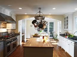 pot rack kitchen transitional with ceiling fan breakfast bar