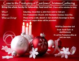 presbytery of east iowa christmas gathering cancelled first
