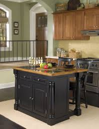pictures of small kitchen islands classic kitchen area with black wooden back chair seating small