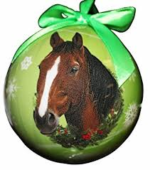 buy christmas ornament handmade ball indian horse from navajo in