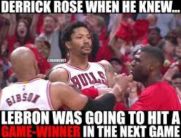Derrick Rose Meme - nba memes on twitter derrick rose knew lebron james was going to