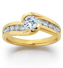 beautiful women rings images Women s yellow gold diamond rings wedding promise diamond jpg