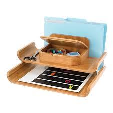 Desk Organizer Tray by Safco Bamboo Deluxe Desktop Organizer