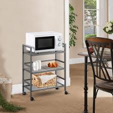 kitchen storage cupboard on wheels kitchen trolley cart 3 tier storage shelves rolling rack