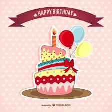 imagenes de pasteles que digan feliz cumpleaños tarjeta de cumpleaños con pastel descargar vectores gratis