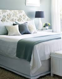 floral headboard with soft grey wall color for chic pretty bedroom