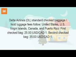 how much does delta charge for bags youtube