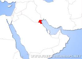 kuwait on a map where is kuwait located on the map
