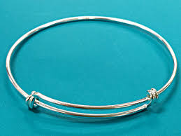 bangle charm bracelet sterling silver images 3 pc sterling silver bangle bracelet adjustable bangle jpg