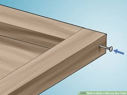 How To Build A Hexagon Picnic Table With Pictures Wikihow by How To Make A Memory Box Table With Pictures Wikihow