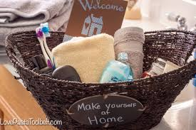 Bathroom Gift Ideas Guest Bathroom Welcome Basket Pasta And A Tool Belt