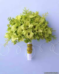 green wedding bouquets martha stewart weddings
