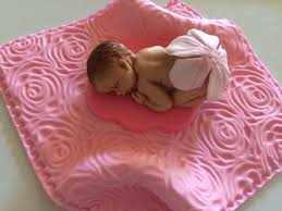 baby shower cake topper rose blanket 3d figures edible