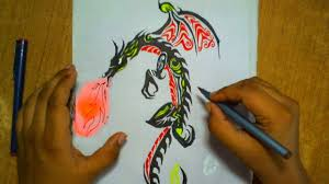 how to draw a dragon tattoo step by step how to draw a dragon
