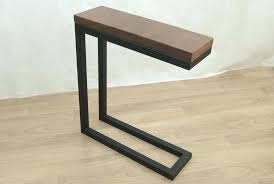 Narrow Accent Table Small Sofa Tables Live Edge Table Narrow Console Table Narrow Side