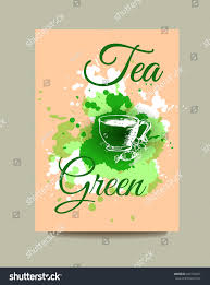 business card flyer brochure green tea stock vector 403150027