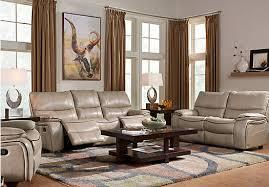 cindy crawford recliner sofa cindy crawford home gianna mushroom leather 2 pc living room with