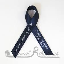 memorial ribbons pack of 10 navy blue personalised d f satin funeral memorial