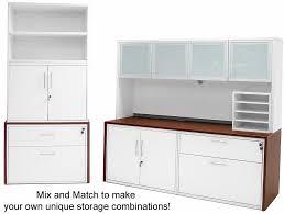 file cabinet credenza modern office structures cherry white modular storage credenza