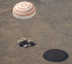 picture perfect soyuz landing in kazakhstan spaceref