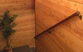 log home interior walls cedar paneling stairway basement remodel stairways