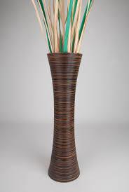 Large Decorative Floor Vases Brown Tall Floor Vase 36 Inches Wood Brown Leewadee