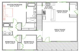 Bungalow Open Floor Plans   bungalow house plans with basement canada home desain flex room
