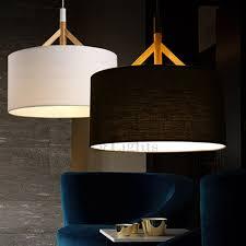 round fabric shade pendant light modern drum pendant light with white shade in satin nickel finish