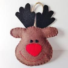 brown felt reindeer christmas decoration