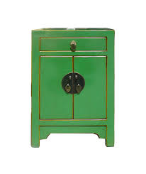 green lacquer nightstand chinese moon face by goldenlotusantiques