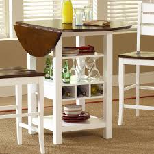 Pub Tables For Kitchen by Bernards Ridgewood Drop Leaf Pub Table With Wine Rack Wayside