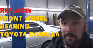 replace front wheel bearing toyota corolla youtube