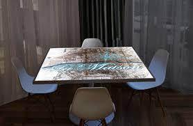 Lit Coffee Table Illuminated Surfaces By Lumisplash Laminates Hospitality Interior