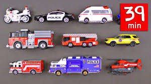 emergency vehicles rescue trucks for kids 39 minutes fire