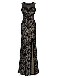 miusol women u0027s sleeveless long black lace split side evening