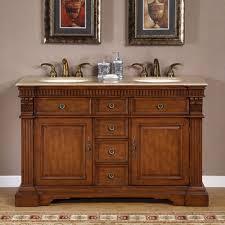 55 Bathroom Vanity 60 Sink Bathroom Vanity Classic Satin Nickel Faucet Luxury