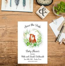 Baby Shower Save The Date Woodland Baby Shower Save The Date Printable Woodland Animal