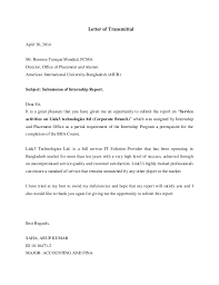 letter of transmittal acknowledgement executive summary